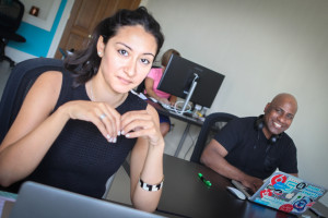 Camille Enrique (left) and Corey Hubbard (right) look to grow their technology based recruitment company, DreamHighr, with the resources and community of Fort Walton Beach.